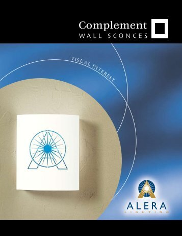 Complement Wall Sconces Brochure - Alera Lighting