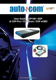User Guide ADP186 / SDP & Cdp-Pro / Cdp-Scan ... - COMMON RAIL