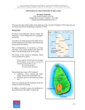 THE ESSENTIAL OILS INDUSTRY IN SRI LANKA Devapriya ... - IFEAT