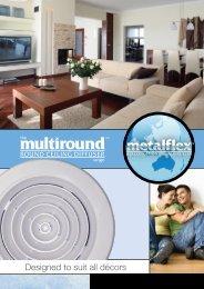 Metalflex Multiround Ceiling Diffuser Range