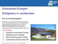 Vortrag von Herrn Prof. Dr. Franz Baumgartner