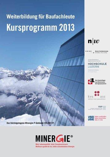 Weiterbildungsprogramm 2013