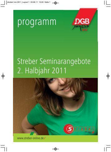 Streber für Jugendliche 2. Halbjahr 2011 - Streber-Online
