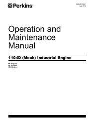 Perkins Motor Operation and Maintenance Manual (English) - REED