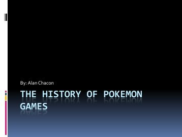 The History of Pokemon Games