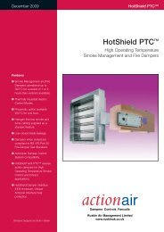 Hot Shield PTC High Operating Temperature Smoke ... - Actionair