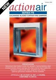 Series FB Curtain Fire Damper Catalogue - Actionair