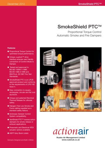 Proportional torque control automatic smoke and fire ... - Actionair