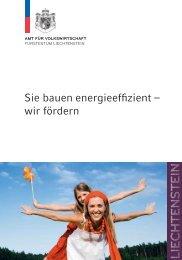 Sie bauen energieeffizient – wir fördern - Energiebündel Liechtenstein