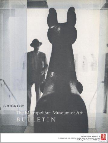 The Metropolitan Museum of Art Bulletin, v. 26, no. 1 (Summer, 1967)