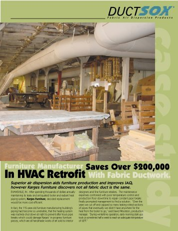 advantages in using fabric ductwork - R.L. Craig Company, Inc.