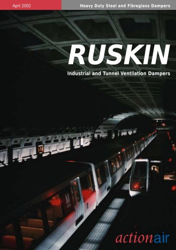 Ruskin Industrial tunnel ventilation dampers - Actionair