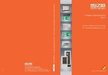 Emergency lighting systems 06/07 Modern design ... - Beta Industries