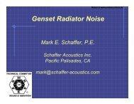 Genset Radiator Noise (ASHRAE Technical Committee 2.6, Mark E ...