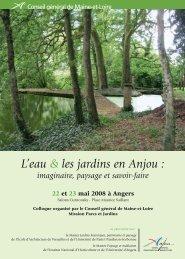 L'eau & les jardins en Anjou : - GHAMU