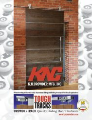 New Sliding Door Track Catalogue - KN Crowder Inc