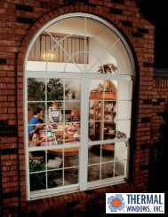 Thermal Barrier windows - Thermal Windows, Inc.