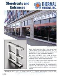 aluminum storefront framing - Thermal Windows, Inc.