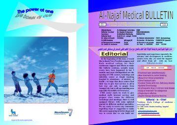 Al-Najaf Medical BULLETIN - University of Kufa