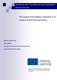 The European Social Dialogue: Delineation of its Functions in the ...