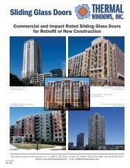 Sliding Glass Doors - Thermal Windows, Inc.