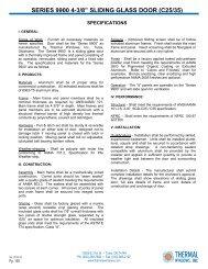 Catalog - Thermal Windows, Inc.
