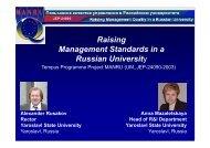 Yaroslavl State University - Index of