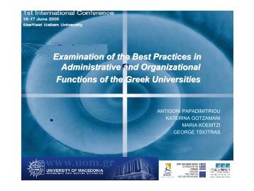 Examination of the Best Practices in Administrative and ...