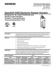 OpenAir GGD Damper Actuator for UL Fire/Smoke - Safe-Air Dowco
