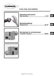 газовые горелки C120-210GX507. Инструкция по монтажу