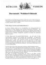 Unsere Heimat - 3. Ausgabe 2011 - Bürgerverein Duvenstedt ...