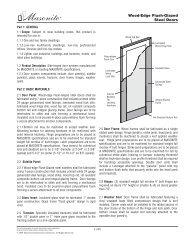 Wood-Edge Flush-Glazed Steel Doors - Masonite