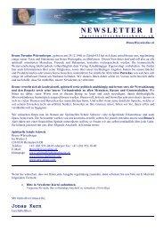 NEWSLETTER 1 - Spirituelle Schule Schweiz