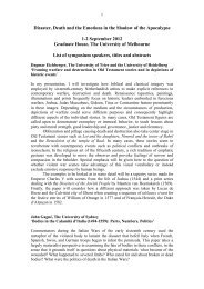 Disaster Conference paper titles and abstracts - ARC Centre of ...