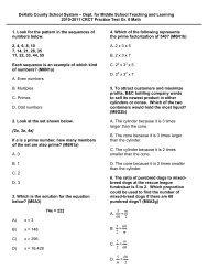 2010-2011 Math CRCT Practice Test Gr. 6 Math - Ensuring Access ...