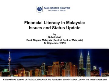 Financial Literacy in Malaysia: Issues and Status Update - KWSP