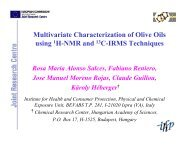 Multivariate Characterization of Olive Oils using 1H ... - User Meeting