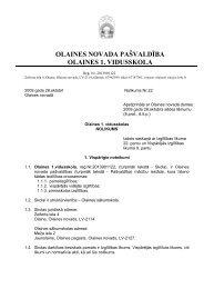 Skolas nolikums [PDF] - Olaines 1. vidusskola