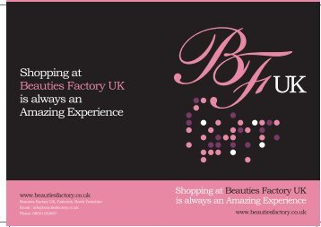 Shopping at Beauties Factory UK is always an Amazing Experience