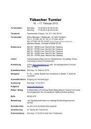Tübacher Turnier - tennis center tübach