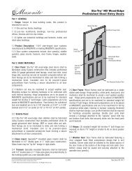 Sta-Tru® HD Wood-Edge Prefinished Steel Entry Doors - Masonite