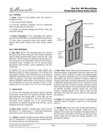 Sta Tru Hd Wood Edge Prefinished Steel Entry Doors Masonite