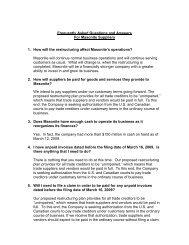 Masonite Restructuring - Supplier FAQ