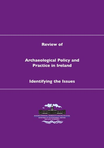 Archaeological Policy.qxd - Department of Arts, Heritage and the ...
