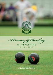 A Century of Bowling - Royal County of Berkshire Bowling Association
