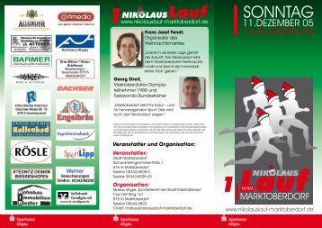 SONNTAG - Nikolauslauf Marktoberdorf