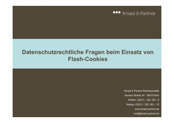 Datenschutzrechtliche Fragen beim Einsatz von Flash-Cookies