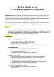 ISM recrute son Coordinateur des services - ISM Interprétariat