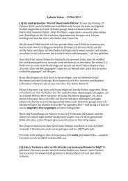 Aphasie Suisse – 13 Mai 2013 (1) Sie sind Aphasiker. Was ist ihnen ...
