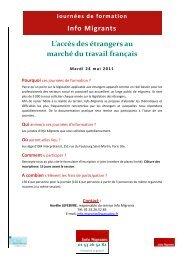 L'accès des étrangers au marché du travail français - ISM Interprétariat